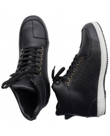 Baskets Moto Homme Cuir