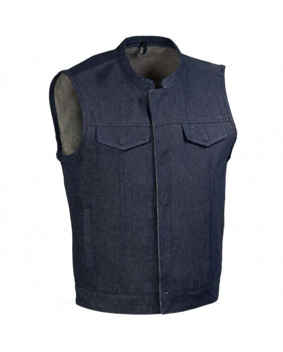 Gilet Cut Moto Custom Denim Zolki